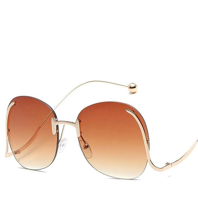 Aoligei Europa und den Vereinigten Staaten Farbe Ocean Film ohne Rahmen biegen Beine Stahlkugel Sonnenbrillen Mode Metal Lady Sonnenbrille ES Sonnenbrillen B8N8eG