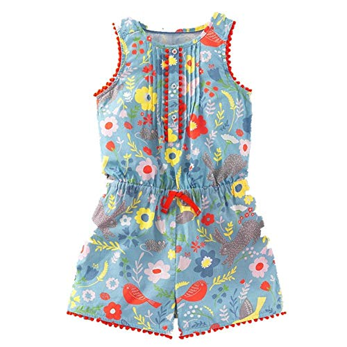 Frogwill Baby Toddler Girls Unicorn Rainbow Romper Summer Playsuit 18M-7Y