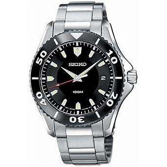 cd2277157529c Amazon.com  Seiko Men s SGEB75 Silver Tone Watch  Seiko  Watches