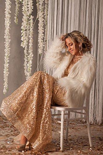 Missord Women O Neck Long Sleeve Pattern Glitter Maxi Party Dress
