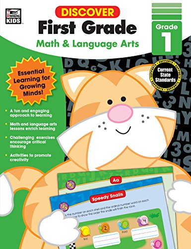 Discover First Grade: Math and Language Arts by Carson-Dellosa