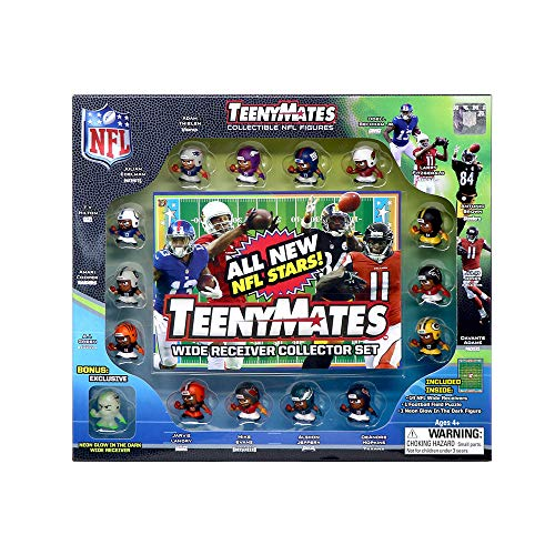 TeenyMates Collectible NFL Figures Series 7 WR Collector Gift Set