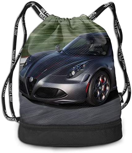 アルファロメオ Alfa Romeo4 大容量 クファッション印刷 バックパッ男女兼用 バックパック小新鮮 旅行スポーツバッグ 防水スイミングバック学生バッグ 多機能 収納バックパッ