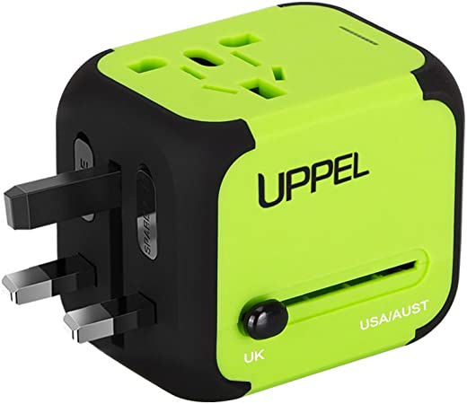 Charging Max All-in-one International Power Adapter with 2.4A Dual USB