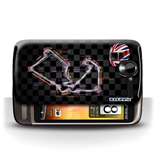 Etui / Coque pour HTC Desire G7 / UK/Silverstone conception / Collection de 2014 F1 Piste