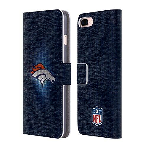 Official NFL LED 2017/18 Denver Broncos Leather Book Wallet Case Cover For Apple iPhone 7 Plus / 8 (Denver Broncos Leather)