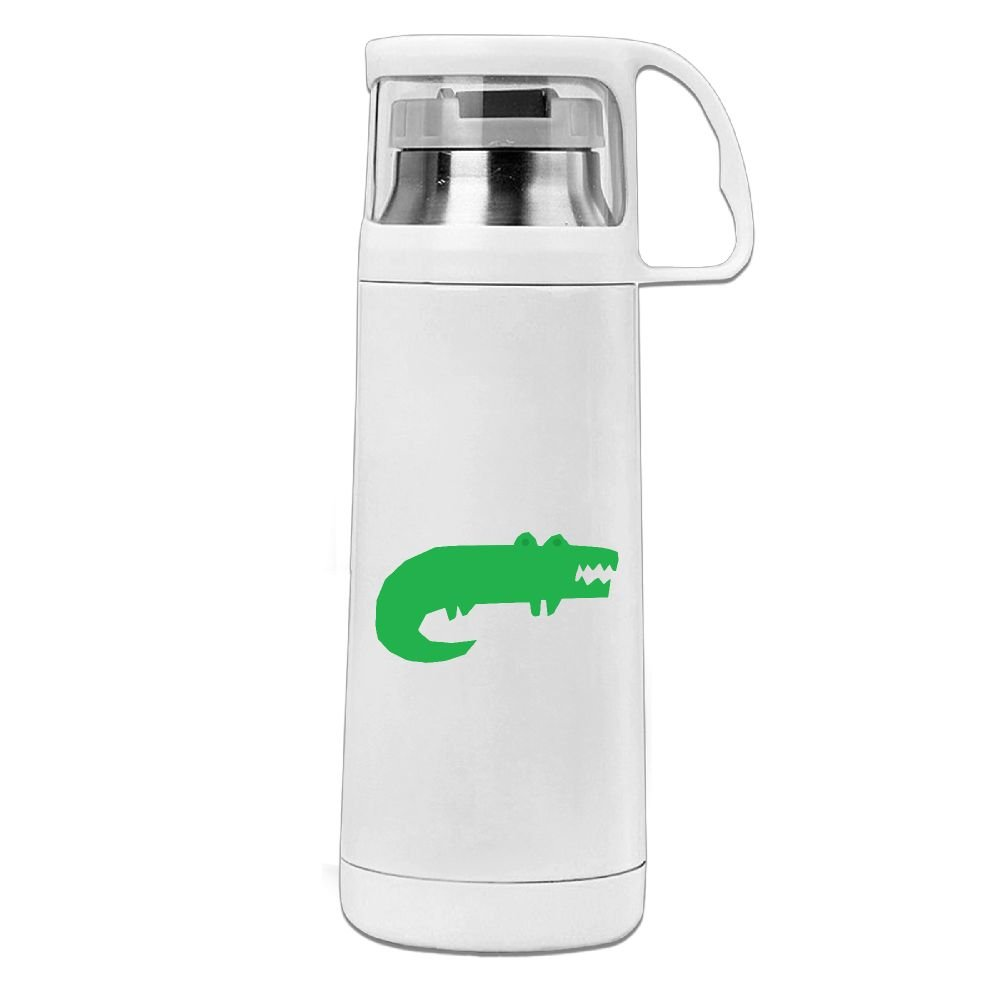 カレンGarden Green Alligatorステンレススチール真空断熱ウォーターボトルリークプルーフHandledマグホワイト、12oz   B078V5T333