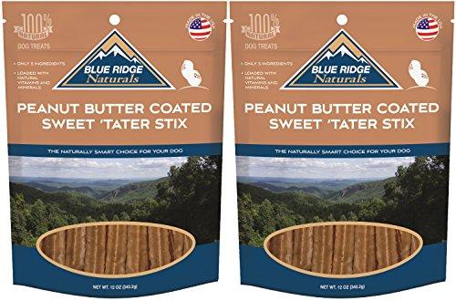 Blue Ridge Naturals Sweet Tater Stix (Peanut Butter Coated, 2 Packs)