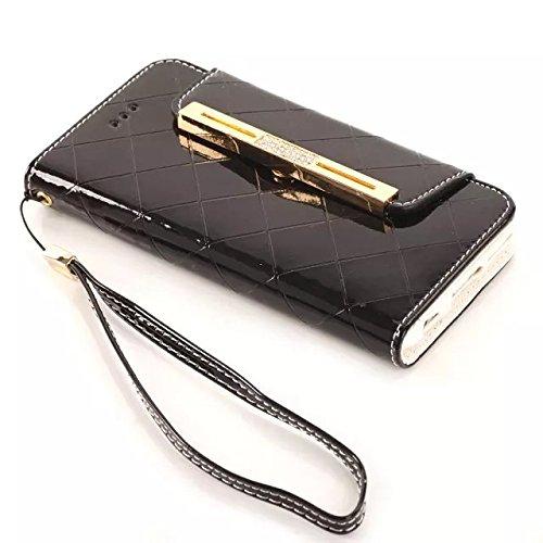 inShang Hülle für Apple iphone 6 PLUS iPhone 6S Plus 5.5 inch iphone 6+ 6S+ 5.5 (2014 sEP & 2015 Sep Release), Edles PU Leder Tasche Hülle Skins Etui Schutzhülle Ständer Smart Case Cover für iphone 6 diamond black