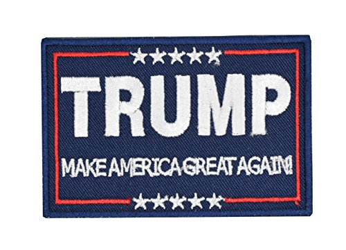 ELLEWIN Trump Tactical Morale Patch Make American Great Again Hook and Loop Patch