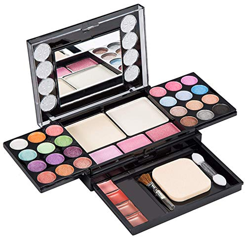 Eyeshadow Palette LT Makeup Palette 37 Bright Colors Matter and Shimmer Lip Gloss Blush Brushes Cosmetic Makeup…