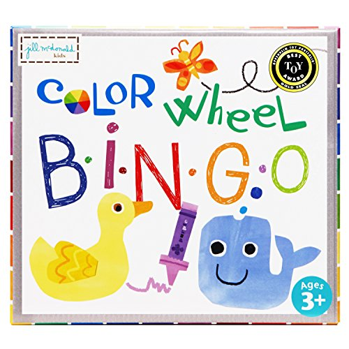 C.R. Gibson Color Wheel Bingo Puzzle Game for Kids, 5pc