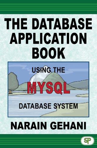 The Database Application Book Using The MySQL Database System Pdf