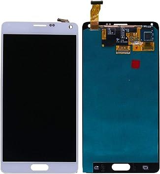 swark Super AMOLED Display compatible con Samsung Galaxy Note 4 SM-N910C, SM-N910F, (blanco sin marco), pantalla táctil LCD, digitalizador Assembly cristal + herramientas: Amazon.es: Electrónica