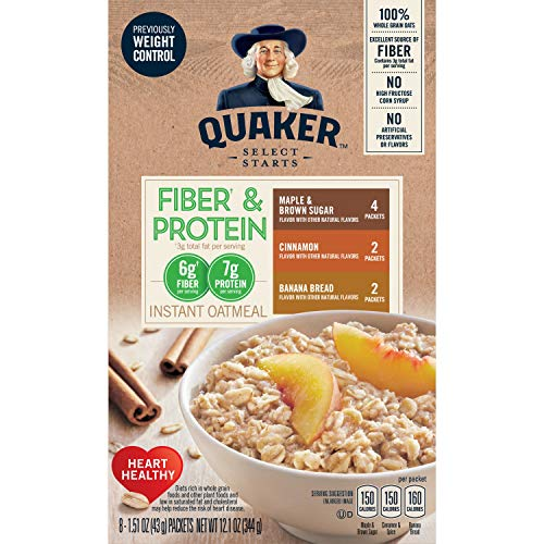 Quaker Instant Oatmeal Weight Control, Variety Pack, 1.51 Oz, 8 Count (Pack of 4)