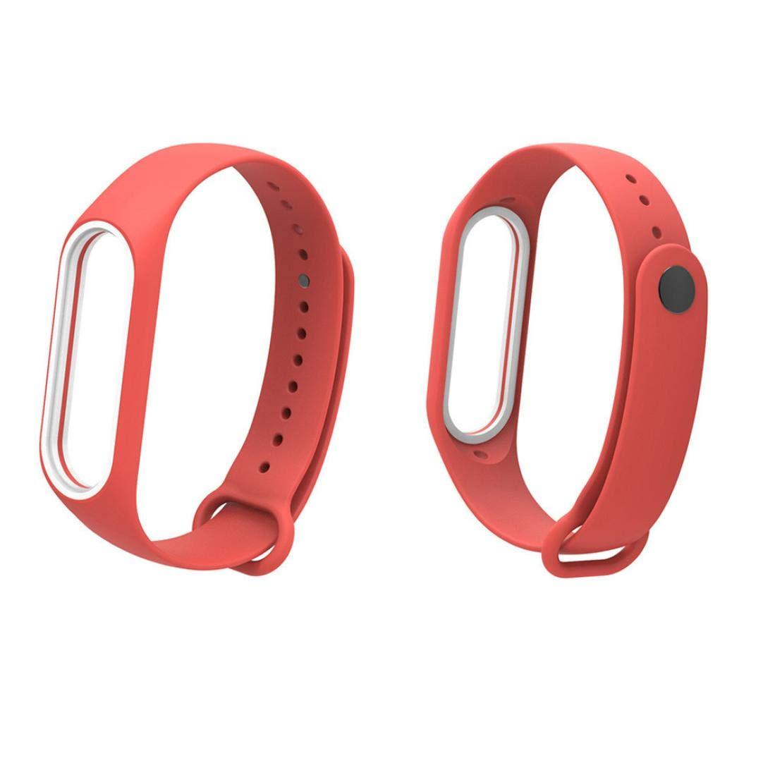 Pulsera Xiaomi Mi Band 3 Correas, ☀️Modaworld Banda de Reloj de Correa de Pulsera de Silicona TPE Silicona Suave reemplazo para Xiao Mi Band 3 (Naranja): ...