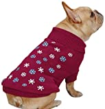 East Side Collection Acrylic Flurry Dog Sweater, X-Small, Deep Raspberry