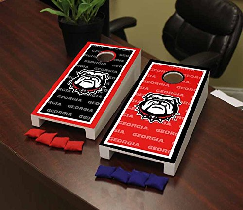 Desktop Bulldogs - Victory Tailgate Georgia Bulldogs Desktop Cornhole Game Set Border Version 2