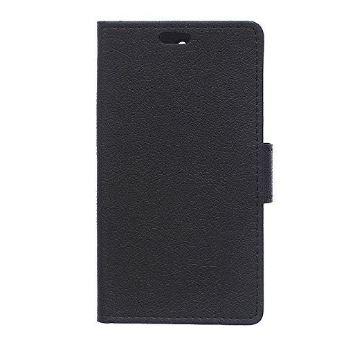 Funda Galaxy J5 ,Aomo Samsung Galaxy J5 Funda Piel [Protector de Pantalla] [Estilo Libro][ Ranuras para Tarjetas][Soporte Plegable] Funda Cuero para Samsung Galaxy J5 (Modelo 2016),Color Negro Negro