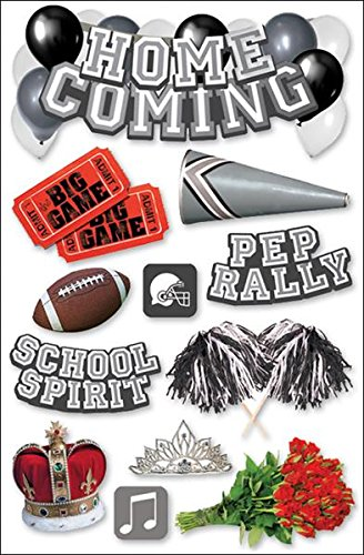 Paper House Productions STDM-0056E 3D Cardstock Stickers, Homecoming (3-Pack)