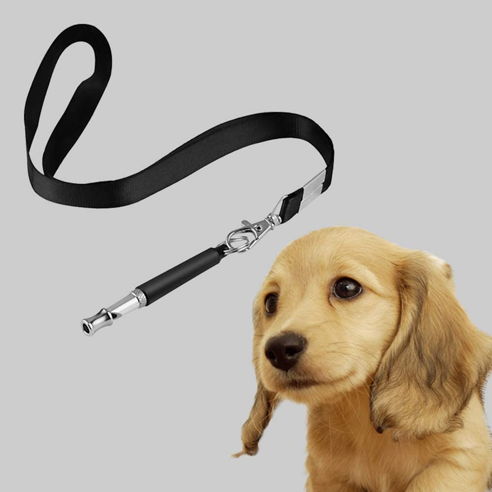 Ogquaton Hundepfeife mit Ultraschall und Verstellbarer Kordel Schwarz