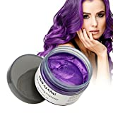 natural beauty care gel wax - MOFAJANG Hair Color Wax, Instant Hair Wax, Temporary Hairstyle Cream 4.23 oz,Hair Pomades, Natural Hairstyle Wax for Men and Women (Purple)