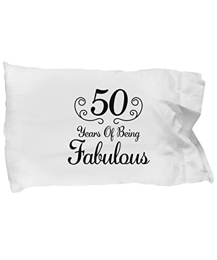 Amazon DesiDD 50th Birthday Gifts Women Born In 1968 Pillow