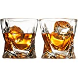 Double Old Fashioned Whiskey Glass Set - Set Of 2-8 Oz. Weighted Drinking Glasses For Cocktail, Wine, Bourbon, Brandy, Liquor, Scotch Etc. With Magnetic Gift Box, High clarity Irish Whisky Glasses