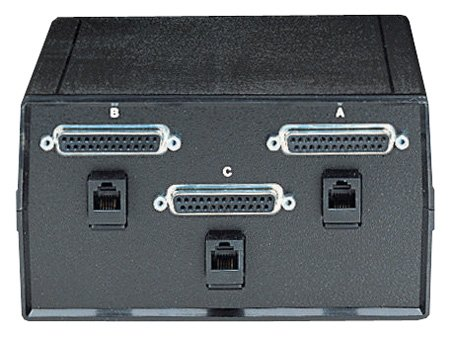 Black Box Dual DB25 2-to-1 Manual Desktop Switch FFF All Leads (Db25 Box Manual Switch)