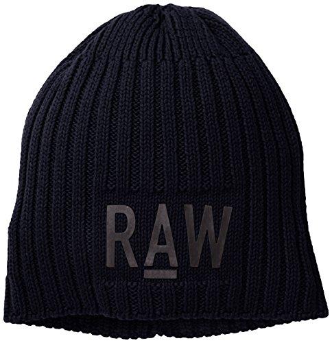 [해외]코 튼 니트 소재의 G 스타 원시 남성 오리지널 비 니 / G-Star Raw Men`s Originals Beanie In Cotton Knit