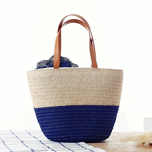 Beach Bag Toy For Bag Straw Brown Shoulder Is Woman Light ZtEqwB