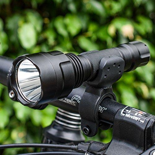 Leyic Aircraft Aluminium Waterproof LED Tactical flashlight/Bike Light for Cycling Camping Hiking Hunting Fishing