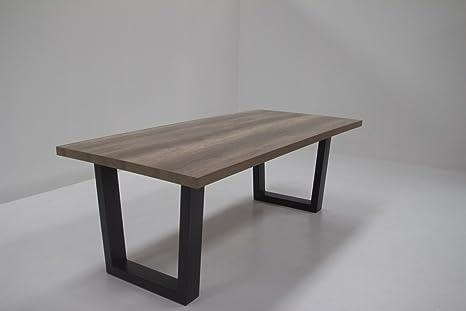 IDEA tavolo da pranzo con metallo U-gambe UNICUS, tavolo top 50 mm ...