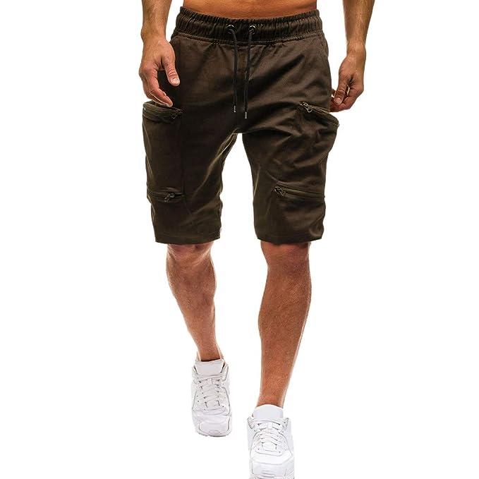 FRAUIT Pantalon Corto Hombres Deporte Pantalones Cortos de Verano para Hombre Joggings Elásticos Pantalones Cortos Deportivos Casuales Pantalones Cortos ...