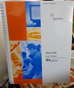 Spiral-bound Word 2000 : 074300 S3: Level 1 (win) Book