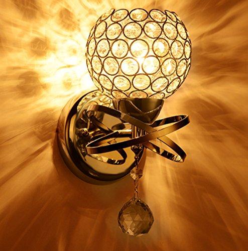 Metal Wall Sconce Light Fixtures : Sunsbell Modern Luxury Crystal Wall Light Chrome Finish Wall Sconce Lighting Fixture - Fixtures ...