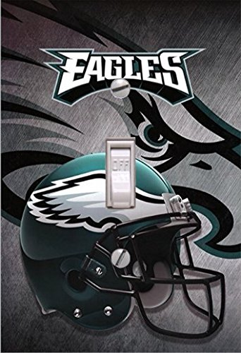 Eagles Lightswitch Cover- Philadelphia Eagles Decor with Helmet