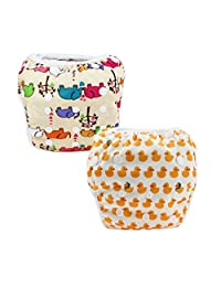 Z-Chen 2 Pack of Baby Reuseable Washable Swim Diapers, Color C