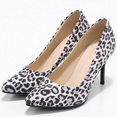 Tacco Chiusa White Scarpe Heels Punta con Scarpe Donna TAOFFEN qC1ZT6a