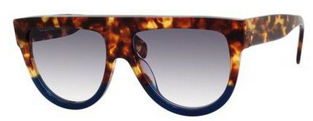 af31d0234b6d Amazon.com  Celine 41026 S FU9DV Tortoise Blue Shadow Round Sunglasses  Polarised Lens Cat  Celine  Clothing