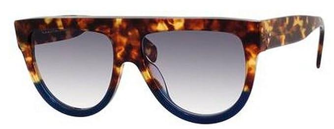 141fa6b980 Amazon.com  Celine 41026 S FU9DV Tortoise Blue Shadow Round Sunglasses  Polarised Lens Cat  Celine  Clothing