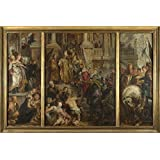 Oil painting 'Peter Paul Rubens Oil Sketch for High Altarpiece St Bavo Ghent ' printing on Perfect effect canvas , 30 x 45 inch / 76 x 114 cm ,the best Gym decoration and Home decoration and Gifts is this Imitations Art DecorativeCanvas Prints