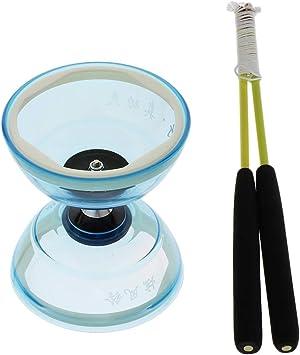 Triple Bearing Juggling Diabolo Toys with Sticks /&String 13cm Diameter Green