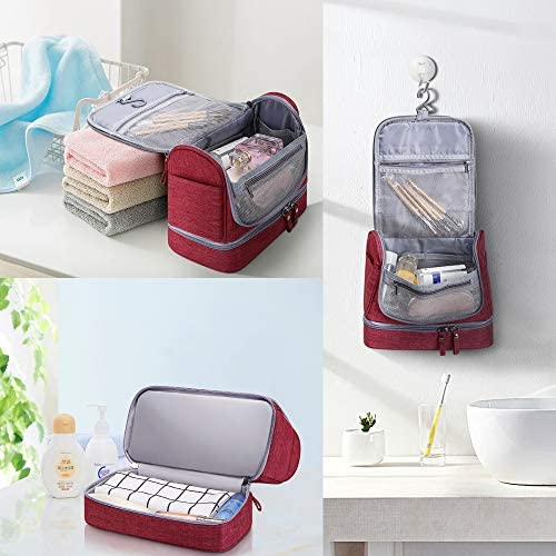 Hanging Travel Toiletry Bag Makeup Organizers Waterproof Cosmetic Bag Bathroom Shower Storage Bag Dop Kit for Men Women