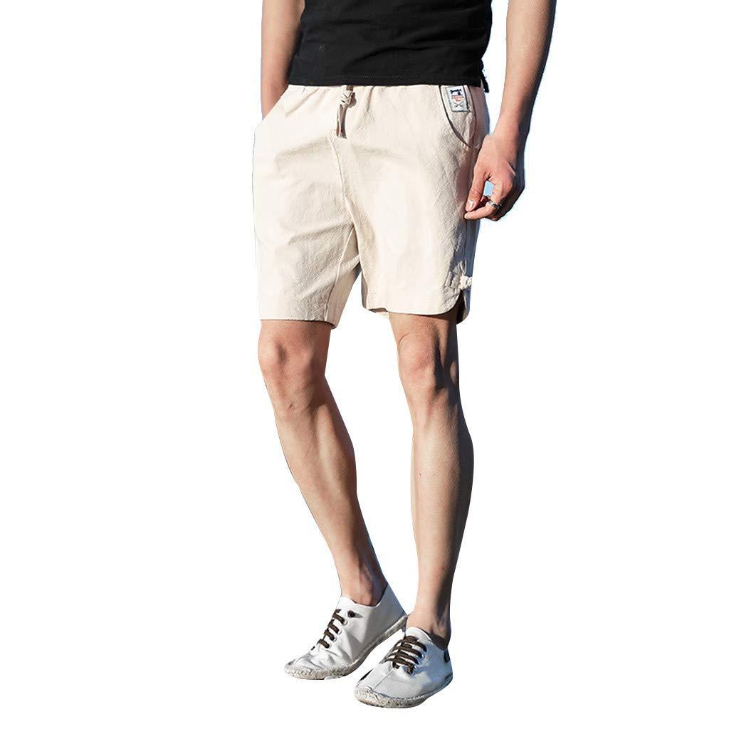 DIMOR Men's Causal Khaki Cargo Shorts Summer Fashion Sport Belt Drawstring Beach Surfing Swimming Short Pants