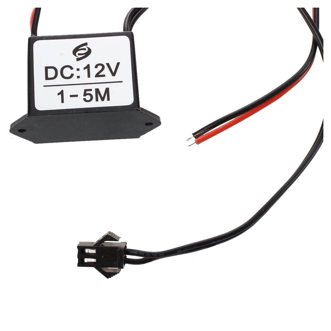 SODIAL(R) red-black cable DC 12V EL wire neon glow strip light driver unit inverter by SODIAL(R) (Image #4)