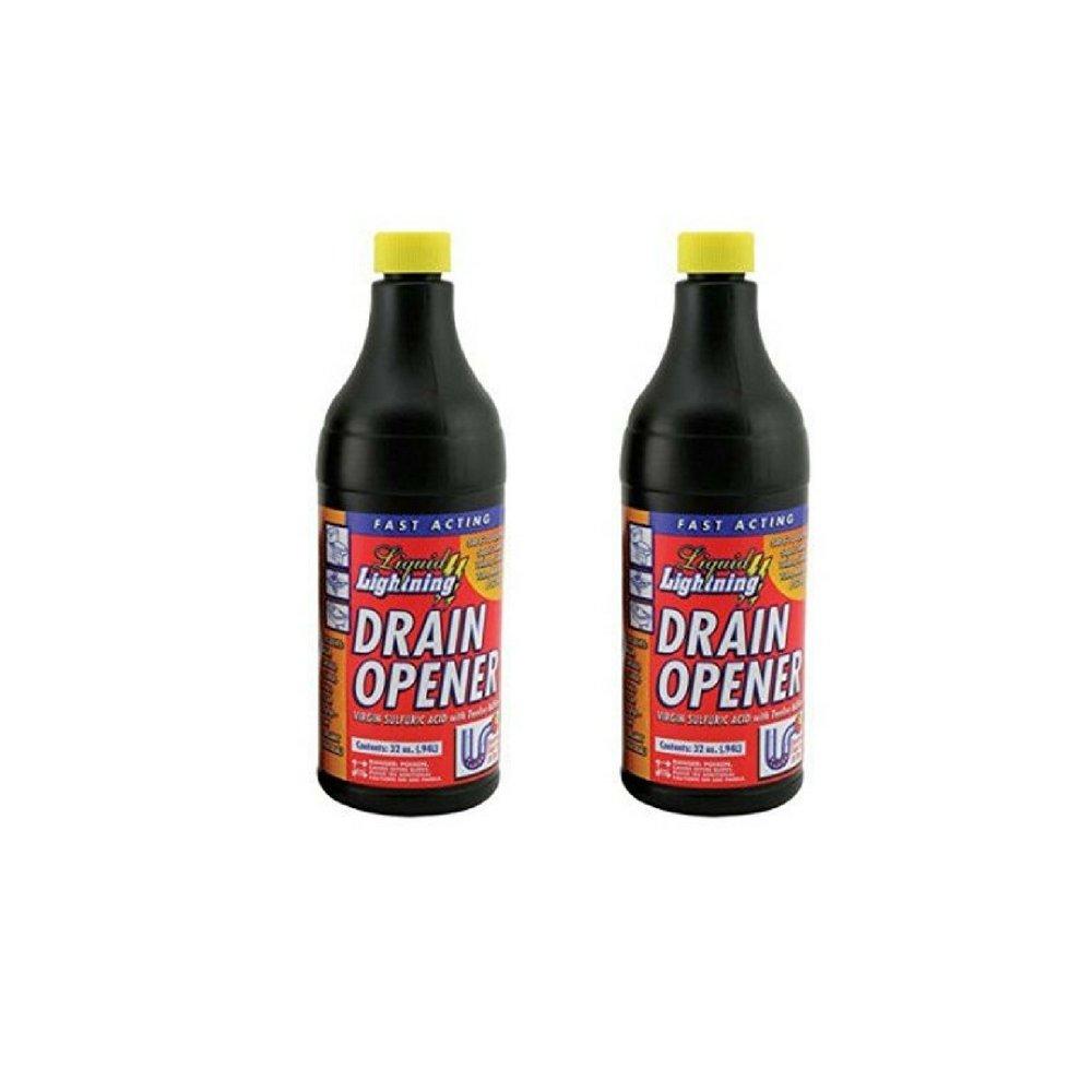 Liquid Lightning Buffered Sulfuric Acid Drain Cleaner (1) (1) (1 Pack) (2 bottle)