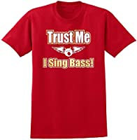 Vocalist Singing Trust Me I Sing Bass - Red Rot T Shirt Größe 87cm 36in Small...