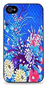 iphone covers New Fashion Case Blue Floral Black Silicone case cover for iPhone 6 plus sl4L2eaJ9TU / 4S