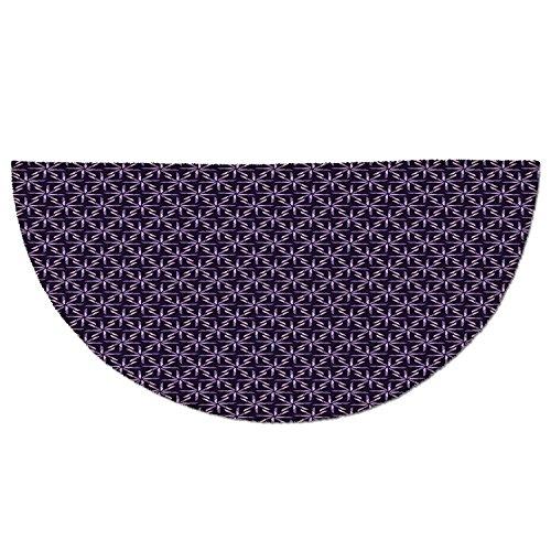 Entrance Rug Floor Mats,Geometric,Pinwheel Design with Dark Color Palette Abstract Pattern Winter Motifs,Mauve Lavander Purple,Garage Entry Carpet Decor for House Patio Grass Water ()